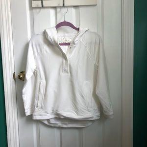 LOU &GREY white hoodie sz S  Super soft!